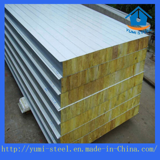 A1 Level Fireproof Rock Wool Sandwich Panel for Wall/Roof Construction