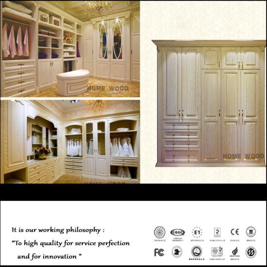 China 2015 British Style Light White Plywood Closet China