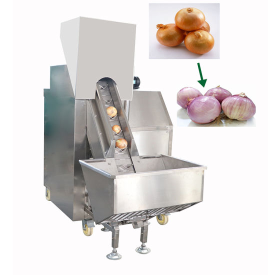 500kg/H Full Automatic Onion Peeling Machine Onion Root Cutter Price