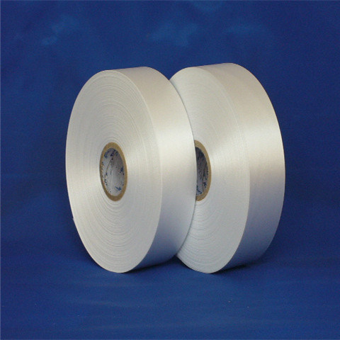 Single Side Non-Fluorescence Slitting Edge Polyester Satin Label for Clothing Care Label