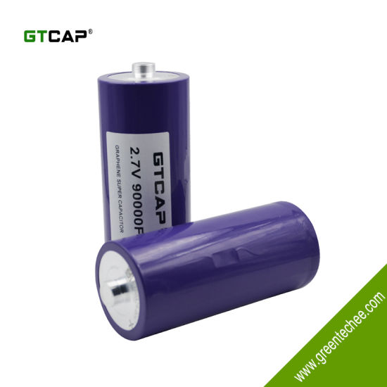 China GTCAP ultracapacitor battery 2 7V 90000f capacitor for
