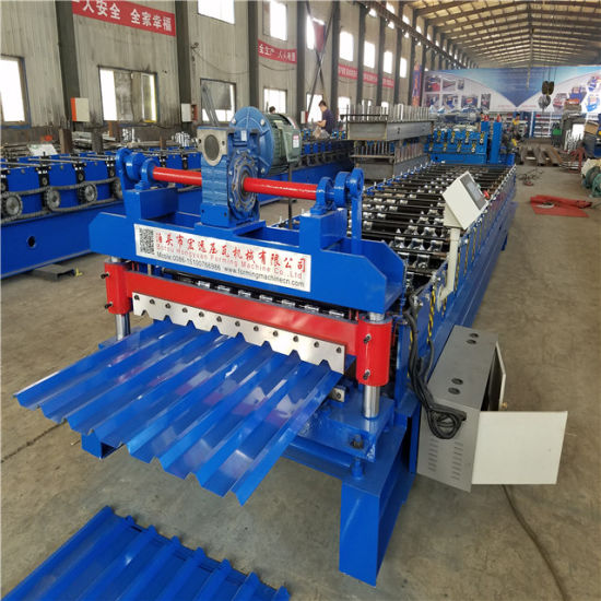 Color Steel Trapezoidal Sheet Roof Roll Forming Machine