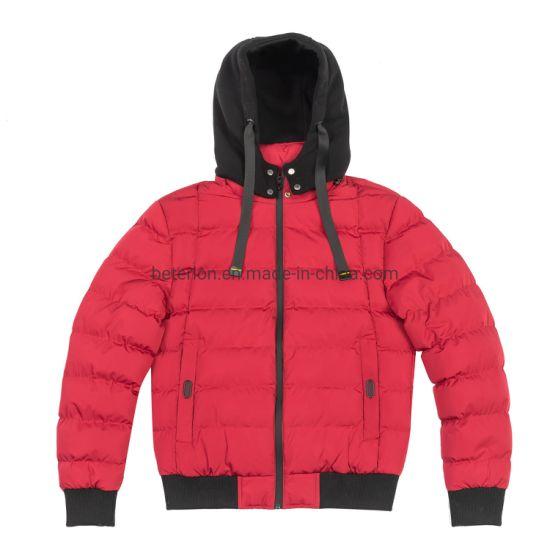 Winter Knit Hood Bomber Jacket for Man