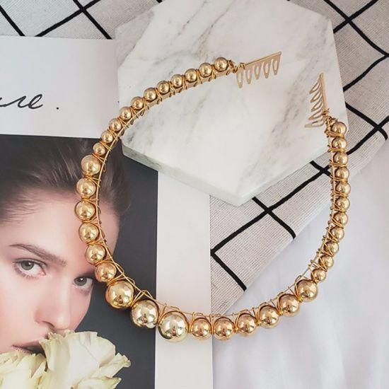 2019 New Fashion Victoria Baroque Vintage Headband ABS Pearl Women Hairband Hair Ornaments