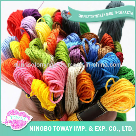 Wholesale Weaving Textile Cotton Silk Embroidery Braided Thread