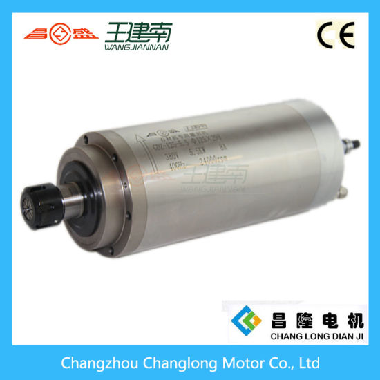 Manufactre 5.5kw Water Cooled High Speed Three Phase Asynchronous Spindle Motor for Stone Carving CNC Router pictures & photos