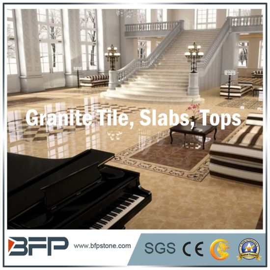 White Glazed Polished Building Material Stone Granite Floor Tile