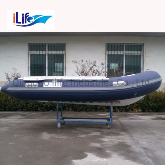 Ilife (CE) 10 8FT 330cm 4 Persons Inflatable Best Fiberglass Rigid Hull  Fishing Rescue Rib Boat for Sale