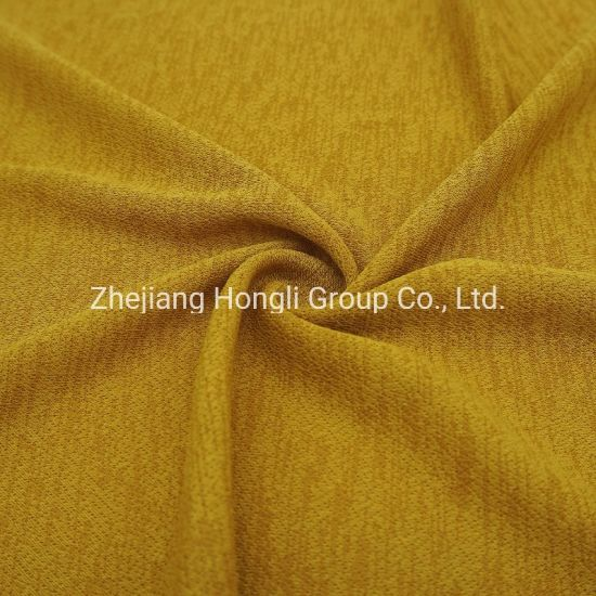 95%Polyester 5%Spandex Knitted Interlock Fabric Breathable Soft Handle