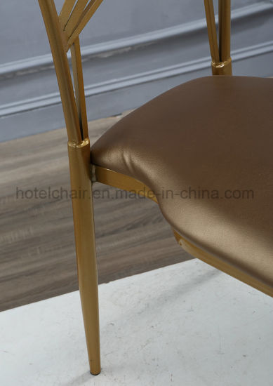 New Design Metal Restaurant Chair for Wedding pictures & photos
