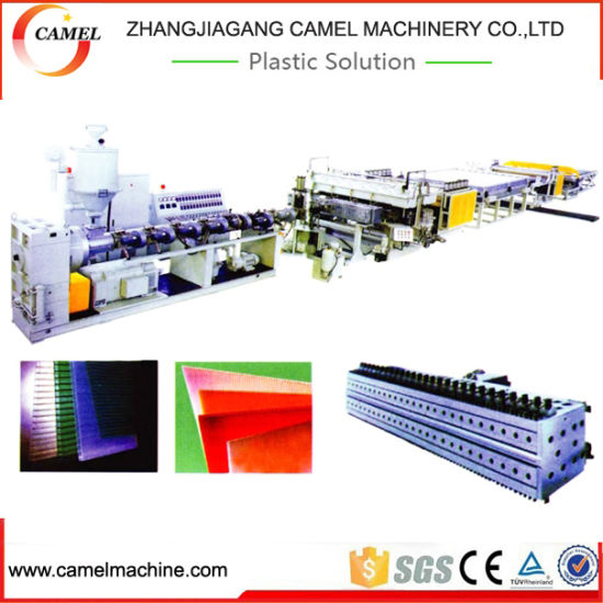 PC PP Flute Hollow Sheet Board Extrusion Machine pictures & photos