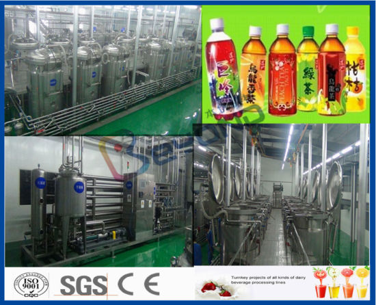 tea leaves extracting and powder dissolving tea beverage production line pictures & photos
