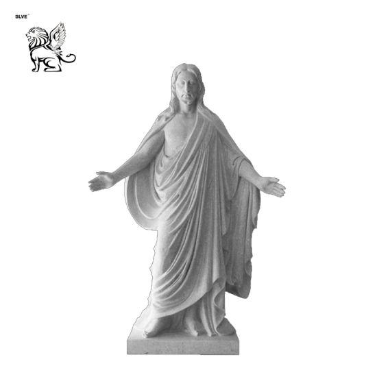 Modern White Marble Jesus Sculpture Msc-015