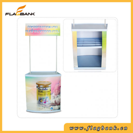 Event Promotion Plastic Portable Counter with Top Board pictures & photos