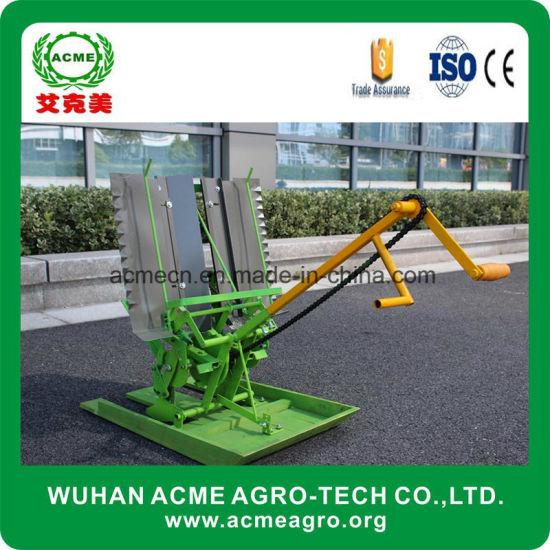 China Manual 2 Rows Portable Rice Seed Planter Paddy Transplanter