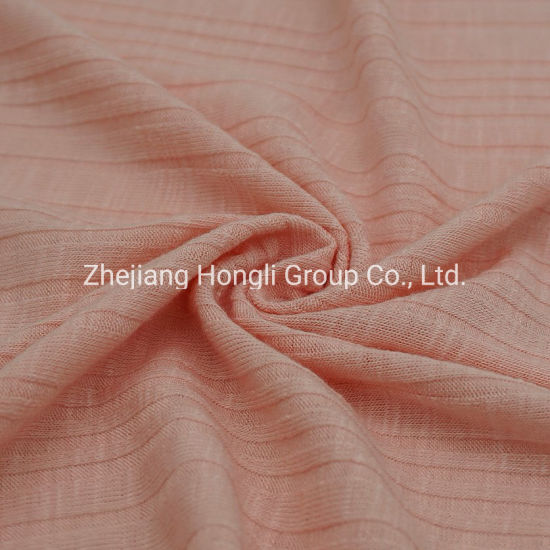62%Polyester 33%Rayon 5%Spandex knitted Rib Fabric Breathable Soft Handle