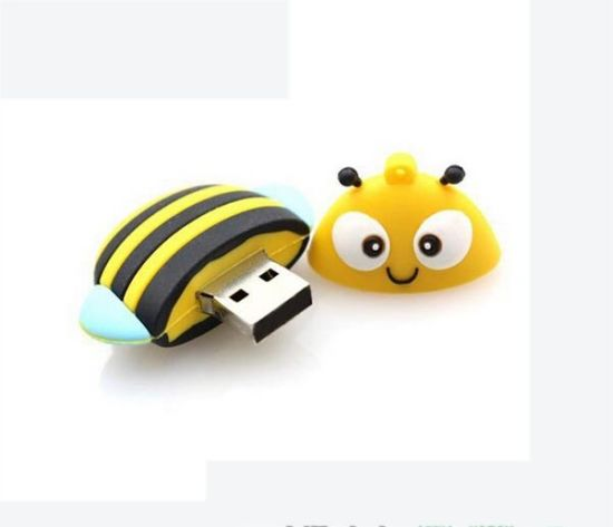 OEM / ODM Design USB Sticks Cute PVC Bee Shape Flash Drive USB 3.0 Wedding Gift USB Flash Memory Drive pictures & photos