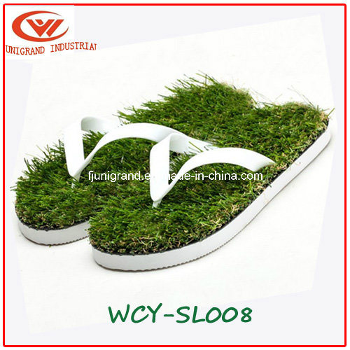 2019 Summer Imitation Grass Flip Flops Fashion Slippers for Men and Women