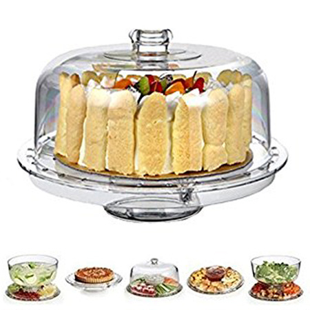 6 in 1 Amazing Cake Stand Cake Tray with Lid pictures & photos