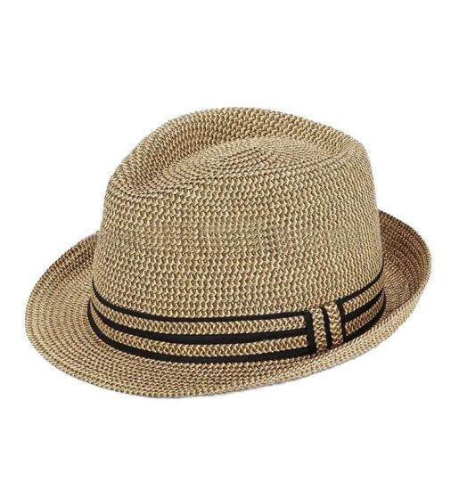 Wholesale Natural Color Fashion Summer Fedora Paper Straw Hats Beach