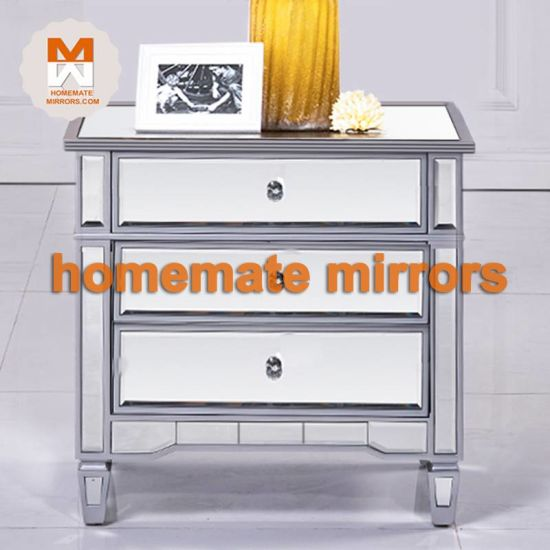 Drawers Chest Cabinet, 3 Drawer Mirrored Bedside Table Very