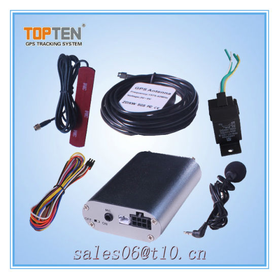 China Software Car GPS Tracker with Engine Cut off SIM-Changing