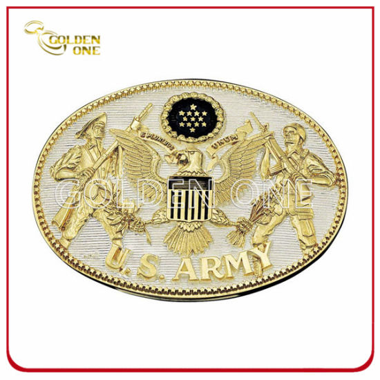 Factory Supply Luxury Decoration Embossed Metal Belt Buckle pictures & photos