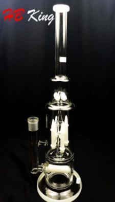 Triple Honeycomb Discs Turbine Percs Electronic Cigarette Glass Smoking Pipe DAB Rig Glass Pipe pictures & photos