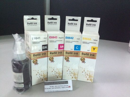 High Quality Refill Ink T6721-T6724, T6641-T6724, T7741 for Epson L101, L200, L300, L210, L310, L550, L220, Et2500, Et4500 etc Printer