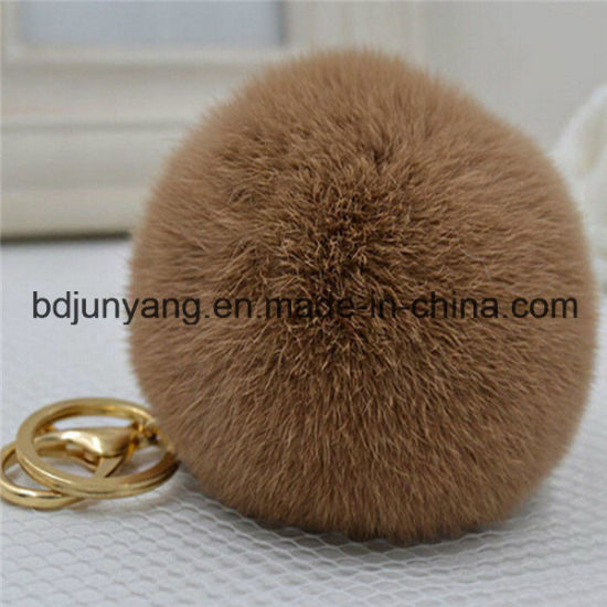 Execellent Price Rabbit Fur Pompom Keychain pictures & photos