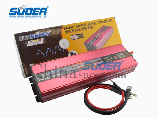 Suoer 24V 220V 3000W Modified Sine Wave Car Power Inverter (HAA-3000B) pictures & photos