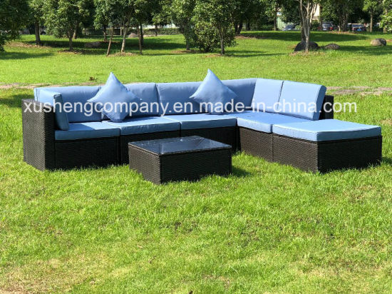 7PCS Kd Modern Leisure Wicker Rattan Patio Home Hotel Office Outdoor Garden Furniture Sofa pictures & photos