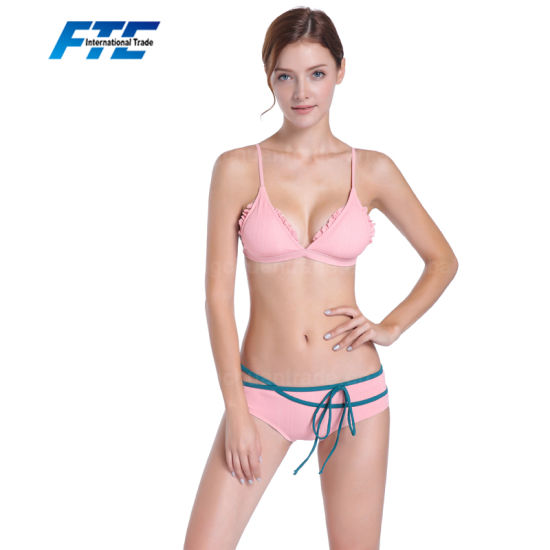 8c2a6a1f30e China Latest Ladies Pink String Swimwear Bikini with Lower MOQ ...