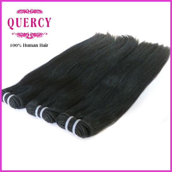 Wholesale Double Drawn 8A Grade High Quality Brazilian Straight Human Hair Extensions pictures & photos