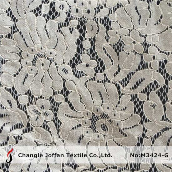 Flower Cord Lace Fabric Wholesale (M3424-G) pictures & photos