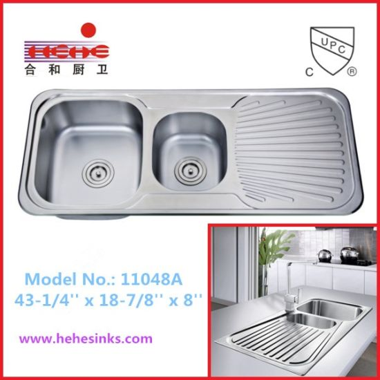 China top mount double bowl kitchen sink with drain board 11048 top mount double bowl kitchen sink with drain board 11048 workwithnaturefo