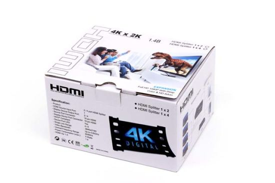 HDMI Video Splitter 1 Point 4 Port Hub pictures & photos