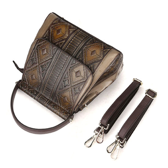 6d14ab942 Manufacturer Price OEM ODM Design Good Quality Brown Leather Ladies Purse  Women Backpack