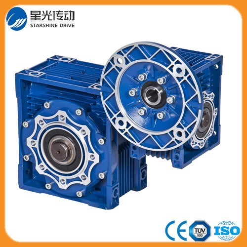 Double Stage Nmrv+Nmrv Type Worm Gearbox with Motor