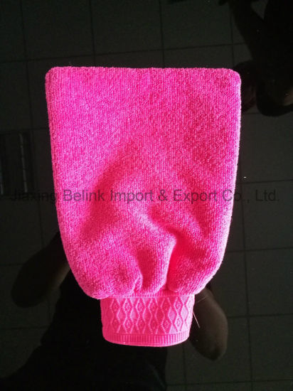 Amzon Hot Sell Microfiber Bath Glove
