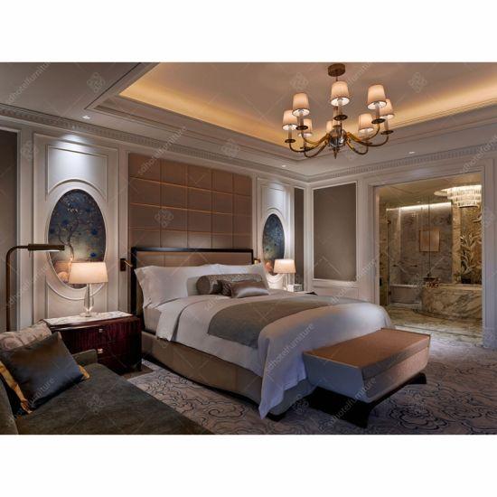 Wholesale Foshan Luxury Hilton Hotel Room Furniture 5 Star King Size Bedroom Sets