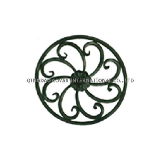 Decorative Fence Panel 11052 Wrought Iron Rosette pictures & photos
