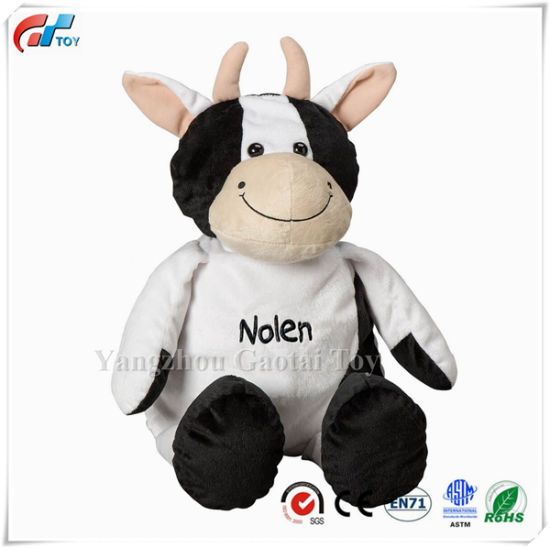 Personalized Stuffed Cow / Puppy / Pig / Lion / Cat Soft Baby Toy