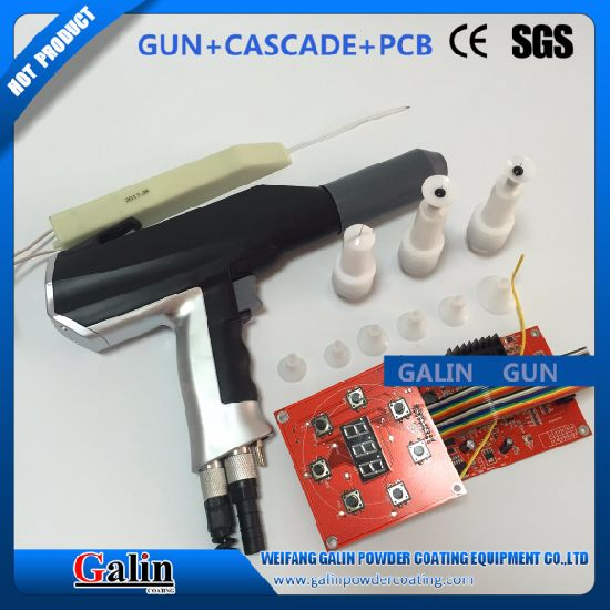 Galin Powder Spray/Painting/Coating Mother Board/Printed Circuit Board/PCB (TCL-R) with Powder Coating Gun (GLQ-D-1B) pictures & photos