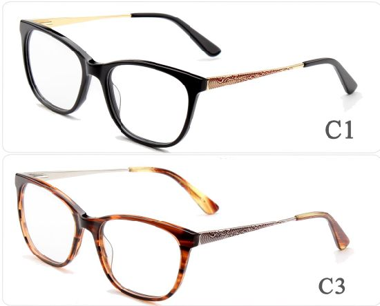 28a844a1dd 2018 Online Ready Goods Stock Hot Sale Best Market Fashion Acetate Glasses  China Eyewear  Optical Frames Factory Frames with Metal Decoration