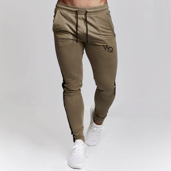c05f30845 Wholesale Custom Your Design Cotton Zipper Pocket Joggers Sweatpants Men  Gym Track Pants
