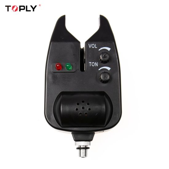 1375 Fishing Electronic LED Light Fish Bite Sound Alarm Bell Clip on Fishing Rod Black for Fishing Accessories 3.0#
