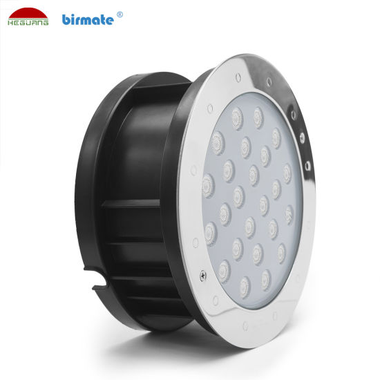 18W DC24V External Control IP68 Structure Waterproof SS316L Stainless Steel LED Ground Light Pool Lighting