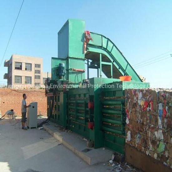 Horizontal Baler Waste Paper Cardboard Plastic Bottles Carton Baler for Recycling Foam Scrap Baling Machine