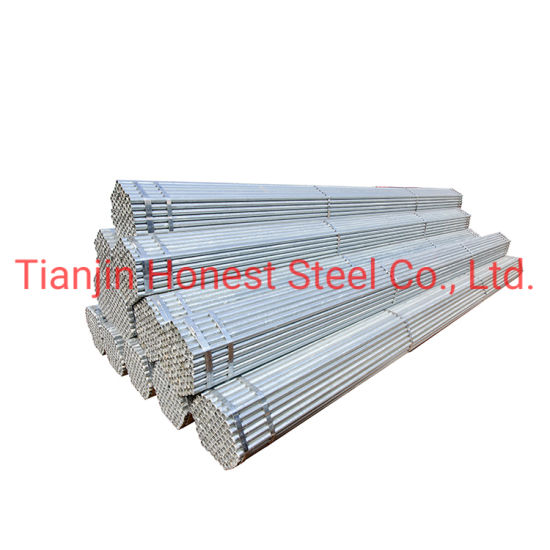 BS1387 Galvanized Iron Pipe Galvanized Steel Pipes for Irrigation